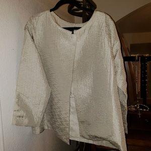 Eileen Fisher 100% silk blazer